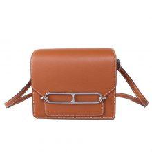 Hermès(爱马仕)roulis 猪鼻包 金棕色  evercolor 银扣 19cm