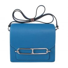 Hermès(爱马仕)roulis 猪鼻包 水妖蓝  evercolor 金扣 19cm
