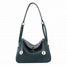 Hermès(爱马仕)Lindy 琳迪包 丛林绿 Swift皮 金扣 26cm