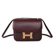 Hermès(爱马仕)Constace 空姐包 爱马仕红 EV 金扣 19cm