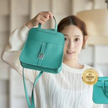 Hermès(爱马仕)Halzan mini 丝绒绿 swift
