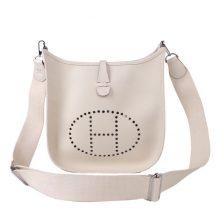 Hermès(爱马仕)Evelyne 伊芙琳 CK10奶昔白 Togo 银扣 29cm