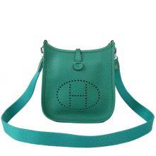 Hermès(爱马仕)Evelyne 伊芙琳 丝绒绿 Togo 银扣 28cm