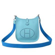 Hermès(爱马仕)Evelyne 伊芙琳 马卡龙蓝 Togo 银扣 28cm