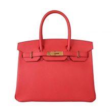 Hermès(爱马仕)Birkin 铂金包 番茄红 EP 金扣 30CM