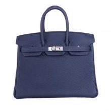 Hermès(爱马仕)Birkin 铂金包 午夜蓝  Togo 银扣 25CM