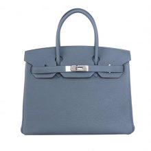 Hermès(爱马仕)Birkin 铂金包 杏绿色 Togo 银扣 30CM