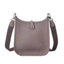 Hermès(爱马仕)mini evelyne 17cm 沥青灰 银扣  togo
