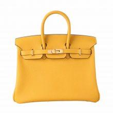 Hermès(爱马仕)Birkin 铂金包 琥珀黄 Togo 金扣 25cm