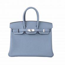 Hermès(爱马仕)Birkin 铂金包 亚麻蓝  Togo 银扣 25cm