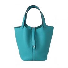 Hermès(爱马仕)Picotin 菜篮包 U1维罗纳绿 togo 银扣 18cm