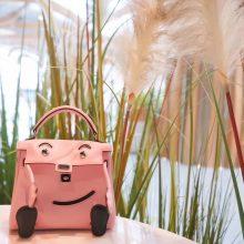 Hermès(爱马仕)kelly doll娃娃包 3Q水粉色 swift皮 银扣 18cm