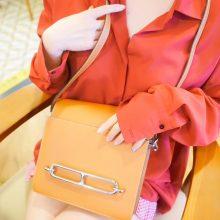 Hermès(爱马仕)roulis 猪鼻包 金棕色 EV 银扣 23cm