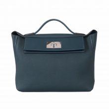 Hermès(爱马仕)Kelly 2424  29cm 银扣 松柏绿 togo