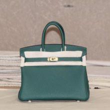 Hermès(爱马仕)bk 25金 孔雀绿 togo 出货