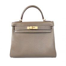 Hermès(爱马仕)Kelly凯莉包 大象灰 togo 金扣 28cm
