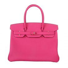 Hermès(爱马仕)birkin 铂金包 玫瑰紫 togo 金扣 30cm