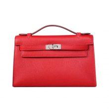 Hermès(爱马仕)miniKelly 一代 22银  中国红 epsom