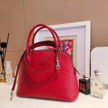 Hermès(爱马仕)bolid 保龄球包 中国红 Epsom皮 28cm