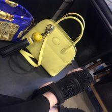 Hermès(爱马仕)bolid 保龄球包 柠檬黄 Epsom皮 28cm