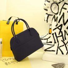 Hermès(爱马仕)bolid 保龄球包 鸭子蓝 Epsom皮 28cm