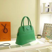 Hermès(爱马仕)bolid 保龄球包 竹子绿 Epsom皮 28cm