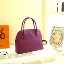 Hermès(爱马仕)bolid 保龄球包 海葵紫 Epsom皮 28cm