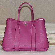 Hermès(爱马仕)花园包 30银 紫红 togo 出货