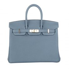 Hermès(爱马仕)Birkin 铂金包 杏仁绿 TOGO 金扣 25cm