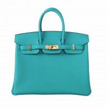 Hermès(爱马仕)Birkin 铂金包 维罗纳绿 TOGO 金扣 25cm