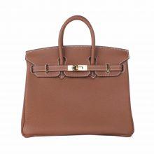 Hermès(爱马仕)Birkin 铂金包 金棕色 TOGO 金扣 25cm