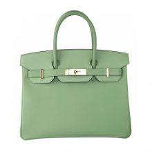 Hermès(爱马仕)birkin 铂金包 3I牛油果绿 epsom 金扣 30cm
