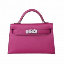 Hermès(爱马仕)miniKelly 二代 银扣 托斯卡紫  羊皮 19cm