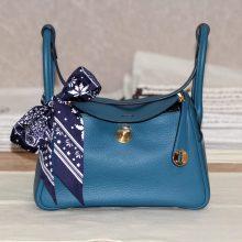 Hermès(爱马仕)lindy 26金 1P鸭子蓝 tc 出货