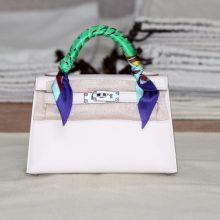Hermès(爱马仕)mini Kelly 二代 银扣 奶昔白 epsom 出货