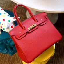 Hermès(爱马仕)Birkin 铂金包 中国红 togo 金扣 25cm