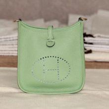 Hermès(爱马仕)evelyne 伊芙琳 17银 3l牛油果绿 tc 出货