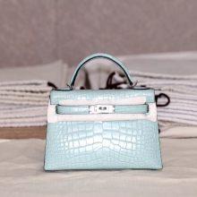 Hermès(爱马仕)miniKelly 2代 薄荷绿 雾面鳄鱼