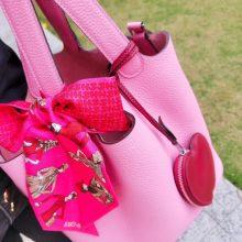 Hermès(爱马仕)Picotin 菜篮包 水粉色  togo 银扣 22cm
